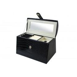 Szkatułka Na Biżuterię Czarna 17X25X16Cm (8)