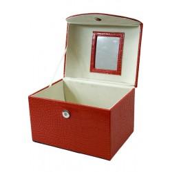 Szkatułka Na Biżuterię Czerwona 17,5X20,5X15Cm (8)