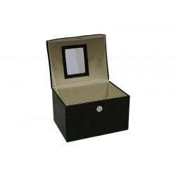 Szkatułka Na Biżuterię Czarna 17,5X20,5X15Cm (8)