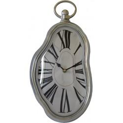 Zegar Srebrny Nowy 37,5X18,5X6Cm (10)