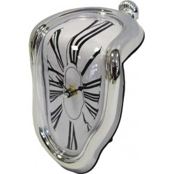 Zegar Srebrny 19X15X11Cm (20)