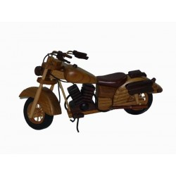 MOTOCYKL DREWNIANY 30 cm, RUCHOME ELEMENTY, KARTON 36 SZT