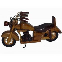 MOTOCYKL DREWNIANY 25 cm, RUCHOME ELEMENTY