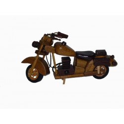 MOTOCYKL DREWNIANY, 20 cm, RUCHOME ELEMENTY, KARTON 96 SZT