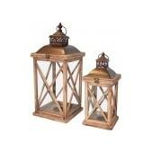 Lampiony Drewniane Candela